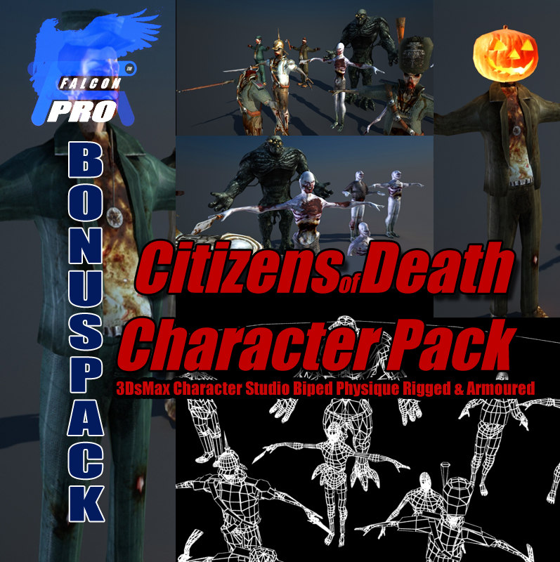 3d citizens death character pack