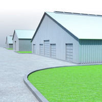 3d cowhouse cow