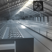 3d cowhouse cow model