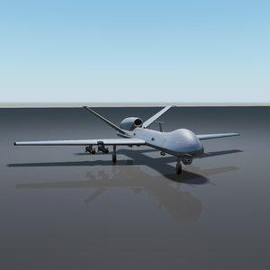 3d uav drone 2 model