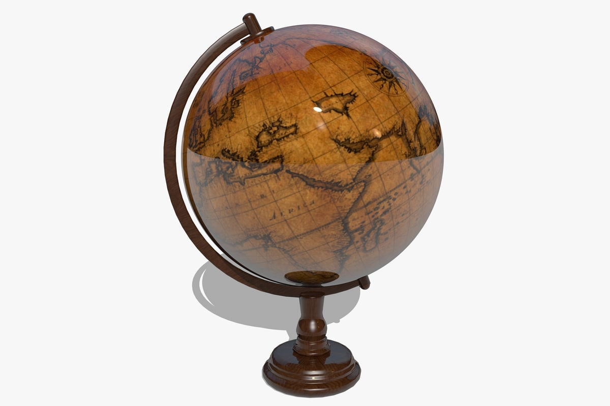 3ds max globe globus