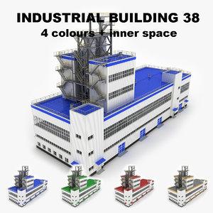 medium industrial building 38 3d model