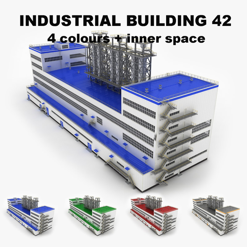 3ds max large industrial building 42