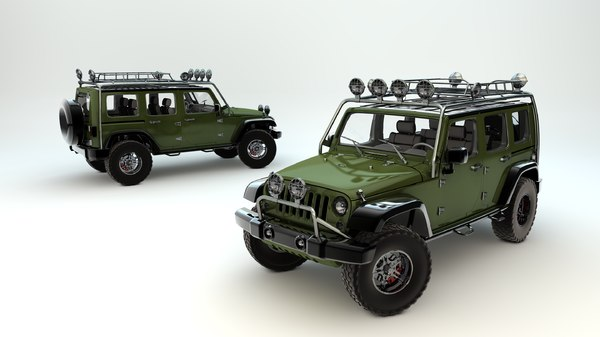 3d model supercharged jeep wrangler