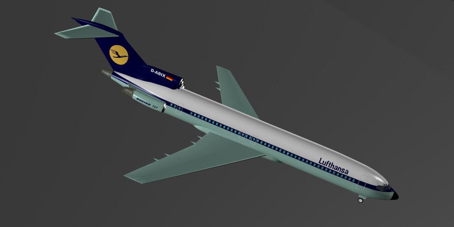 lufthansa 727-200 727 max