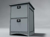 3d model drawer filing cabinet