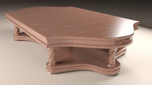 3d classic wooden table model