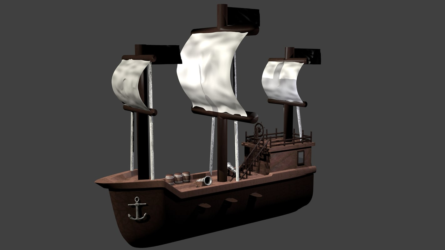 3ds max ancient ship