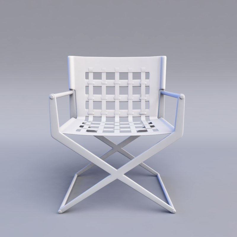 3ds max director chair