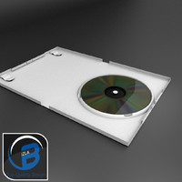 white dvd wii case 3d model