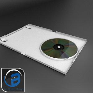 white dvd wii case 3d model