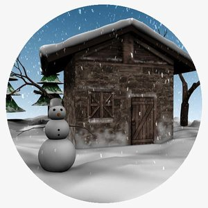winter holiday 3d max