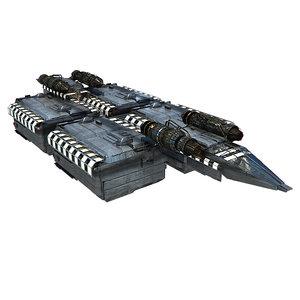 3d model transport space ship