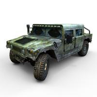 3d hummer h1 offroad model