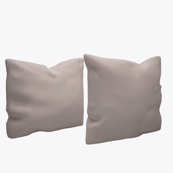 3d model pillows checker