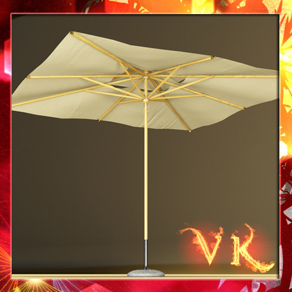outdoor umbrella parasol 3d model