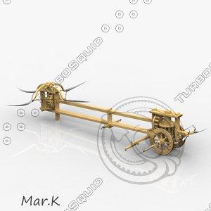 3d model assault chariot scythes