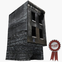 3dsmax damaged building