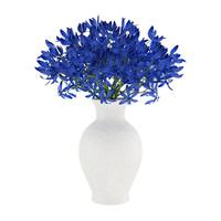 flower blue vase