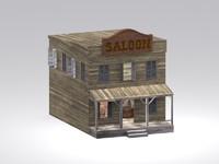 wild west saloon 3d max