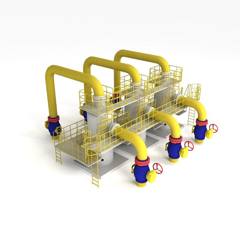 3d vertical oil dedusting