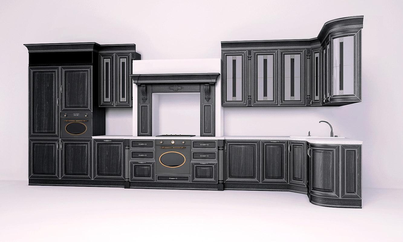 3d model kitchen galliano