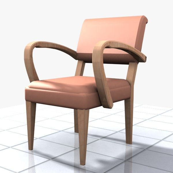3d chair wood wooden