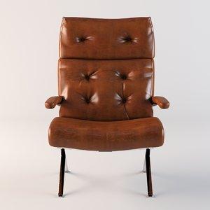 3d armchair model