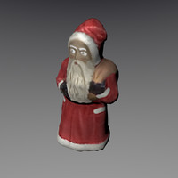 obj santa clause figure