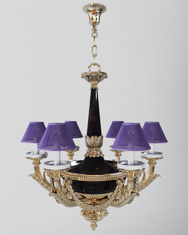 chandelier antique 3d model