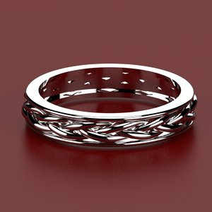 ring twisted wires 3d model