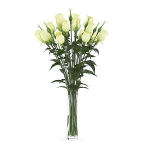 yellow eustoma vase