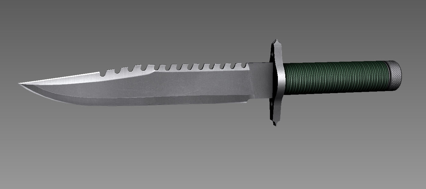 rambo blood knife 3d max