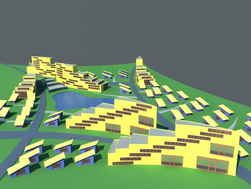 city 3d fbx