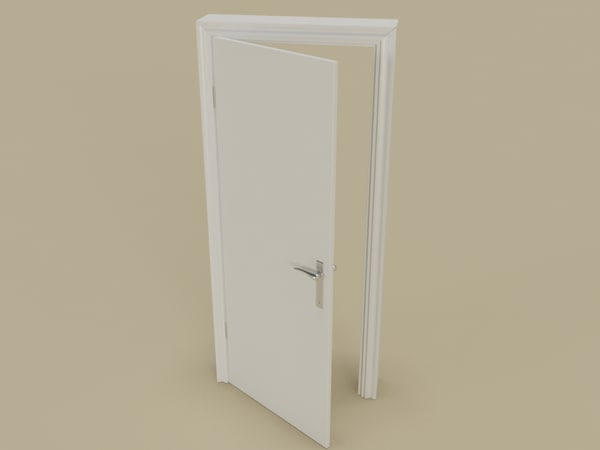 architecture white door 3d max