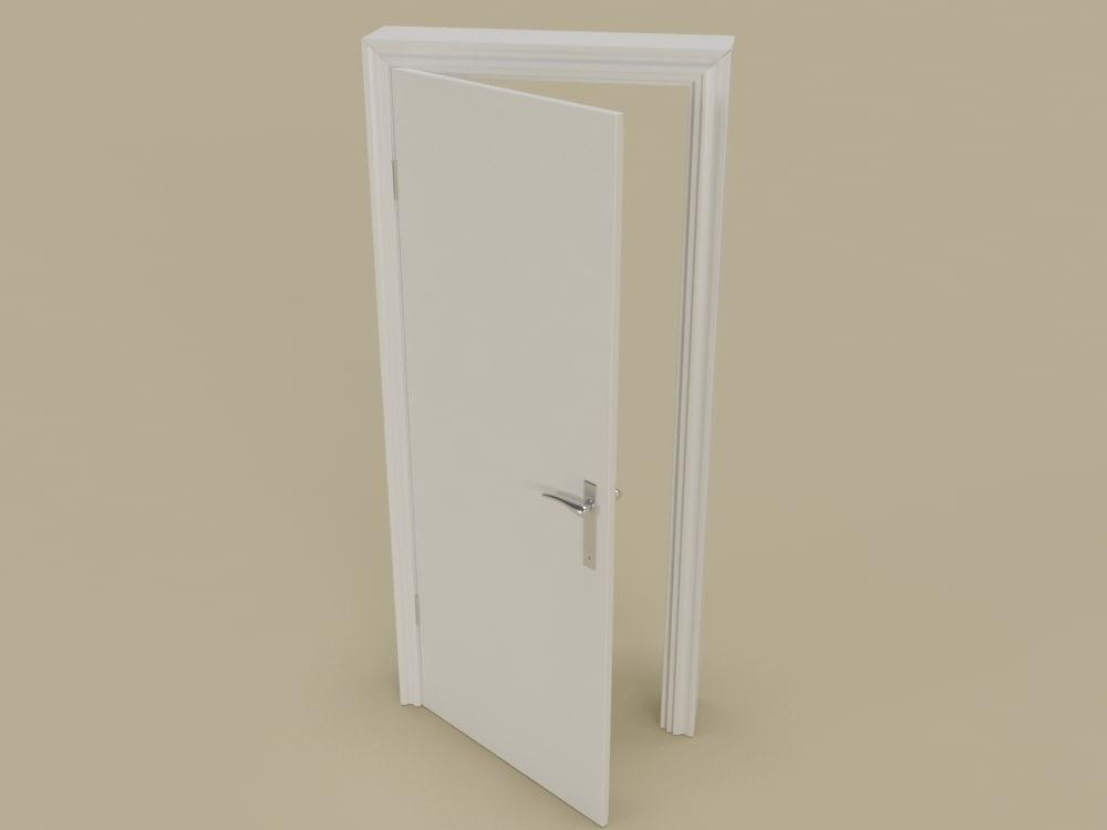 architecture white door 3d max