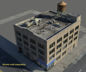 building architectural streets 3d model