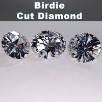 3d birdie cut diamond