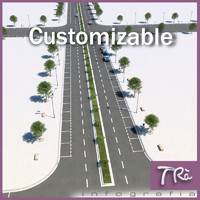 customizable street 3d max