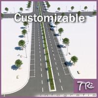 customizable street 3d max