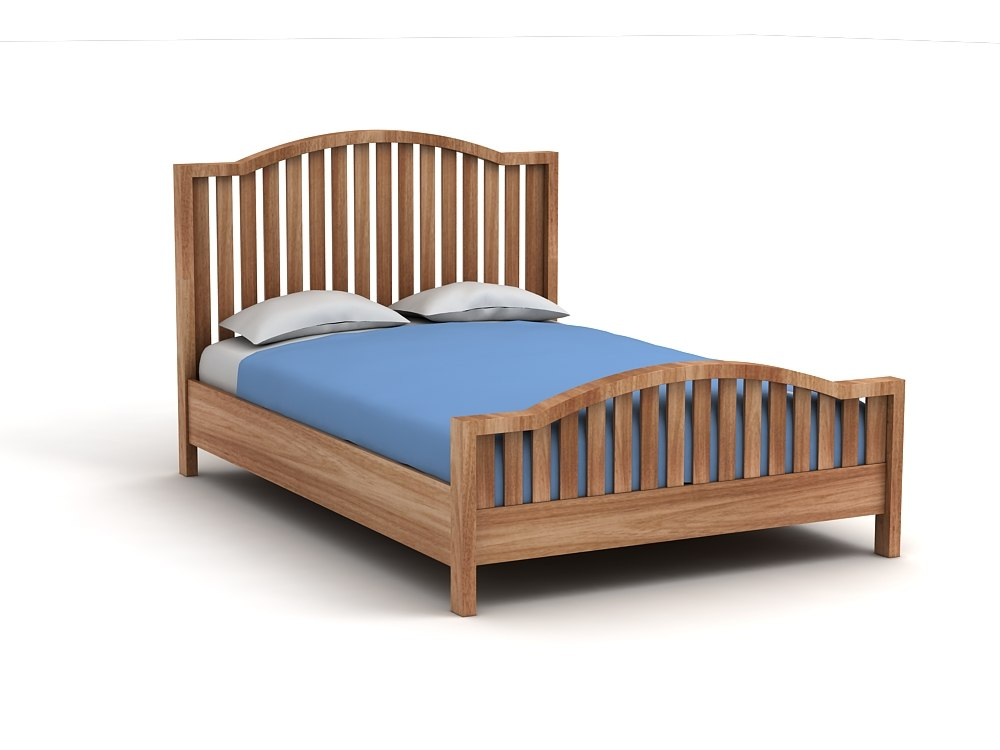 3d wooden bed