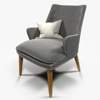 3d model armchair cosmopolitan chair