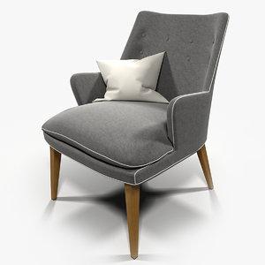 3d model armchair cosmopolitan chair