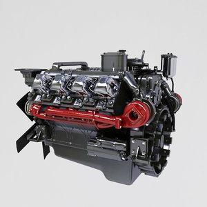 3d kamaz engine
