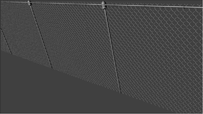 3d chain-link fence