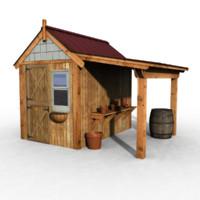 3d model house field