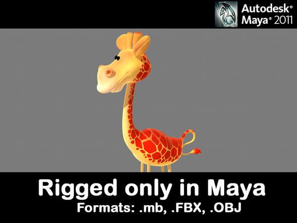 giraffe 3d fbx