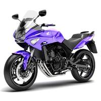 3d obj honda cbf600 s motorcycle