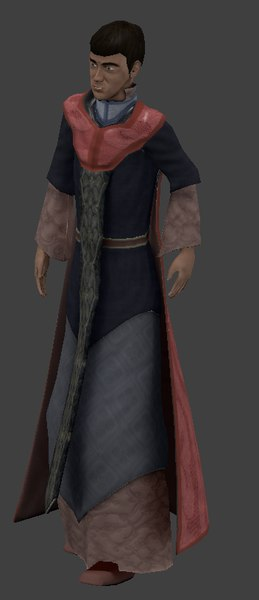 young wizard 3d model