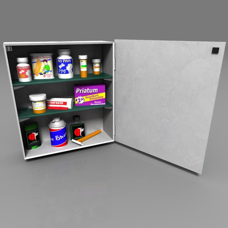 medicine cabinet 3d fbx